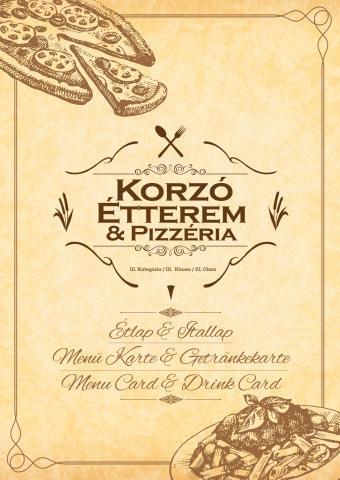 Étlap - Korzó Étterem és Pizzéria